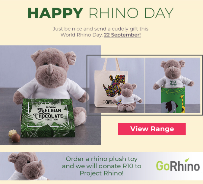 sa good news brand south africa rhino day - GoRhino, Project Rhino and NetFlorist unite in aid of The Rhino