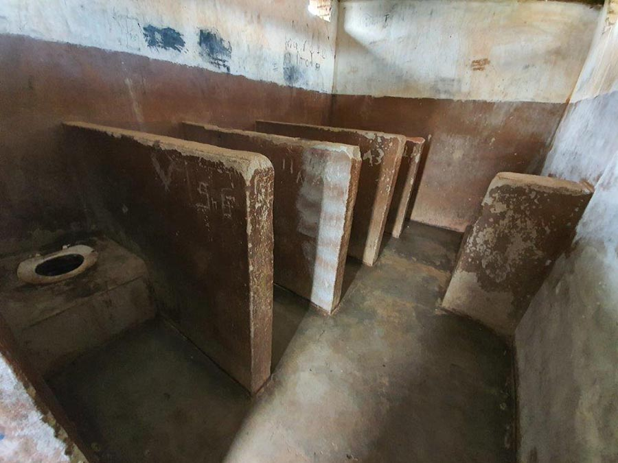 This images depicts the horrendous conditions at Madima Primary School Saulspoort prior to the new facilities - Engen pledges the first R2.5m to help eradicate pit latrines at schools