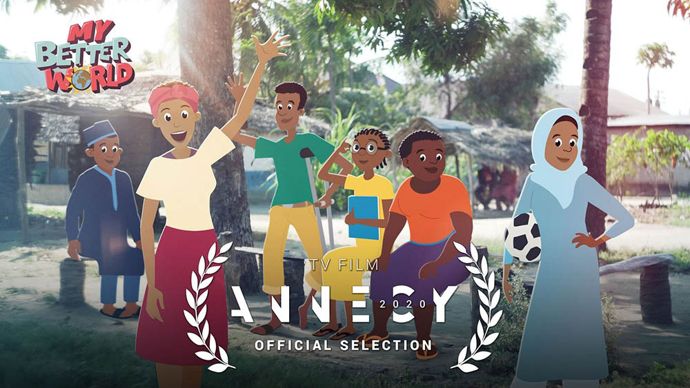 sagoodnews My Better World Poster - All-African Series, My Better World, Nominated for Annecy International Animation Film Festival